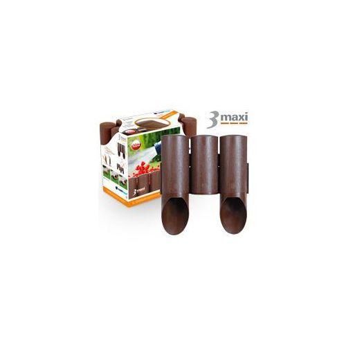 Palisada ogrodowa Cellfast 3 MAXI (ciemny brąz) 13,5 cm x 2,1m (34-011)