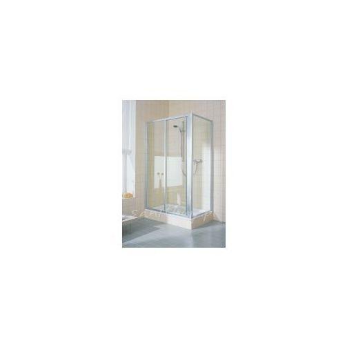 Drzwi prysznicowe Kermi Cada do wnęki 130cm, przesuwne dwuczęściowe z polem stałym CAST2130182PK