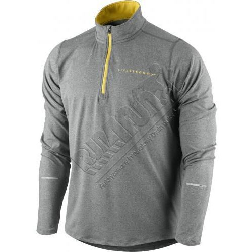 Ciepła bluza z serii Live Strong - Nike LIVESTRONG Element Half-Zip, kolor: szary/żółty